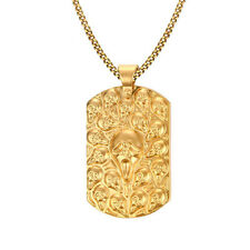 Fashion Men's 316L Stainless Steel Gold Skull Pendant Chain Necklace Jewlery