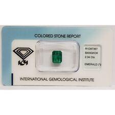 Smeraldo Goccia 2.04 ct certificato in Blister - IGI