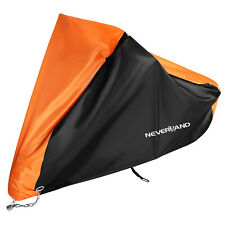 XXXL Orange Motorcycle Cover For Harley Davidson Road Electra Glide King Touring