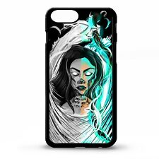 Death grim reaper girl skull scythe tattoo lightning graphic phone case cover