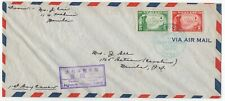 """1943 Philippine Cover """" Passed by Japanese Military Police """" Handstamp 1st Day"""