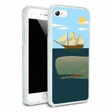 Sperm Whale Under Ship Apple iPhone 8, 8 Plus, X, 11 Case