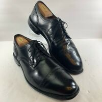 Allen Edmonds Mens Colton Brogue Dress Shoes Black Cap Toe Lace Up 11.5 E