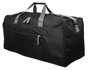 Mens Extra Large Black Sports & Gym Travel Holdall Bag - SPORTS & LEISURE DUFFLE