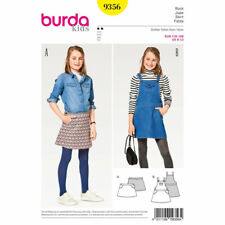 Burda Kids Easy SEWING PATTERN 9356 Girls Skirt/Dungaree Dress Age 6-13