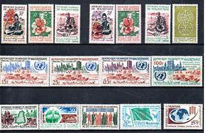 Mauretanien Lot ** postfrische Ausgaben mit 172/74 I und II (2469)