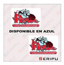 X2 PEGATINAS  NO FEAR DOG  STICKERS  VINILO COCHE AUTO TUNING ADESIVO DECAL
