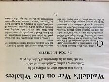 a1m ephemera 1966 article waddell war on the whalers