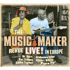 EDDIE/ALABAMA SLIM/WHITE DR.BURT-THE MUSIC MAKER REVUE LIVE IN EUROPE  CD NEW+