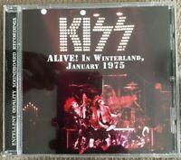 "KISS : ""Live at WINTERLAND 1975"" (SOUNDBOARD) (RARE CD)"