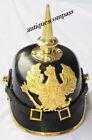 WW1, WW2 Leather German war Prussia Prussian PICKELHAUBE Spiked Helmet