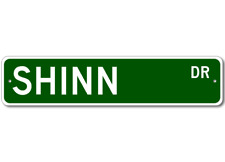 SHINN Street Sign - Personalized Last Name Sign