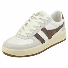 Gola Grandslam Reptile Womens Taupe Grey Synthetic Fashion Trainers
