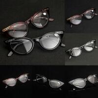 Frauen Katzenauge Resin Rahmen Lesebrille Brillen Stärke