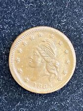 1863 Army & Navy Patriotic Civil War Token. Nice Coin Look At Pictures