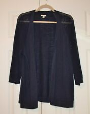 SONOMA OPEN FRONT 3/4 SLEEVE NAVY BLUE CARDIGAN SWEATER - XL - GENTLY WORN