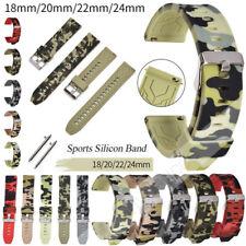 18/20/22/24mm Watch Band Silicone Men Women Sport Watch Strap Waterproof Rubber