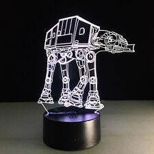 3d FX Deco DEL Acrylique Star Wars AT-AT Imperial Walker Nuit Lampe Nuit Lumière Lampe