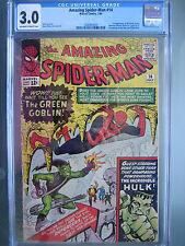 Amazing Spider-Man #14 CGC 3.0 OW/W **1st Green Goblin** Marvel Comics 1964