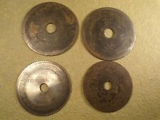 Lot of 4 Key Machine Cutter/Cutting Wheel for Vintage / Antique Flat Steel Keys