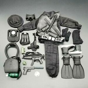 "1:6 Ultimate Soldier Navy SEAL Night Ops Uniform Set 12"" GI Joe BBI Dragon 21st"