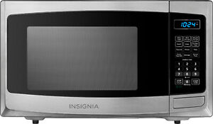 0.9 Cu. Ft. Compact Microwave - Stainless steel