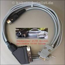 Commodore C128 / C128D Kabel an SCART 40/80 Zeichen  5,0 Meter