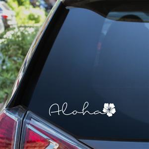 Aloha Hibiscus Car Sticker Surf Camper Floral Flower Bumper Decal