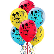 Mickey Mouse 1st Birthday Party Supplies 30cm Quality Latex Balloons - 15ct