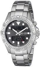 SO&CO New York Mens 5017.1 Yacht Club Analog Digital Alarm World Time SS Watch
