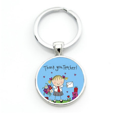 A great teacher takes a hand opens mind Teacher's Day gifts keychain wholesale