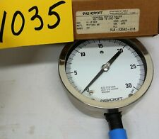 """4.5"""" 316 Ss Ashcroft 45-1009S-04L-S-04L 30# Industrial Gauge Gage Free Ship"""