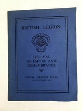 Festival of Empire and Remembrance - British Legion Programme 1936