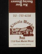 1970s? Lincoln Woods Inn 2510 East Market Street York PA Matchbook Pennsylvania