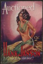 """Auctioned by """"JANSON, Hank"""" - [FRANCES, Stephen Daniel]  1952"""