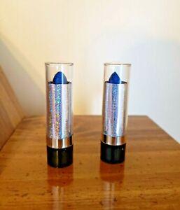 Lot of 4 Blue Glitter Lipsticks-Unbranded-Halloween-Gothic-Grunge FREE SHIPPING