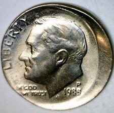 1988 ERROR Roosevelt Dime OFF CENTER + Broadstruck Unc./ BU Coin O/C Lot #Q2  NR