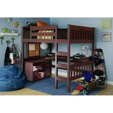 Full Size Loft Bed and Dresser Set