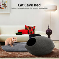 Pet Nest Puppy Cat Dog Bed Sleeping Cushion Cave Warm Kennel House Kennel Tent