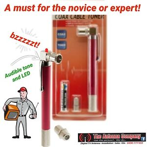 coax cable tester tone pen TCT115 CONTINUITY tracing pocket size led metal made