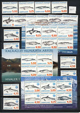 Greenland Whale sheets and sets mnh vf complete 66.15