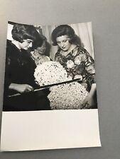 Marie bell and Françoise sagan: original press photo 13x18cm