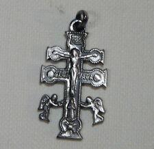 -CROCE di CARAVACA- argento 925 brunito Sterling silver