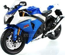 AUTOMAXX 600802 SUZUKI GSXR-1000 SPORT BIKE 1/12 BLUE WHITE