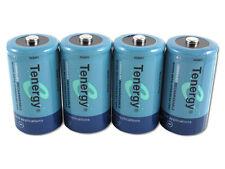 4 x Tenergy D-Size D 10,000mah NiMH Rechargeable Batteries