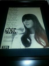 Cher Alfie Rare Original Classic Promo Poster Ad Framed!