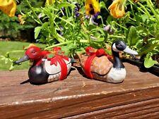 Vintage Duck Decoy RED HEAD CANVAS BACK DUCK & a CANADIAN GOOSE Set of 2 Enesco