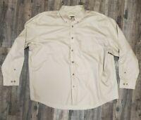 Cabela's Outfitter Series Men's XXL Button Down Shirt Long Sleeve Beige in EUC