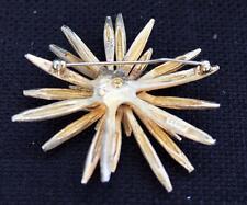 Vintage Signed BOUCHER Goldtone STARBUST Shape Pin Brooch #3105R