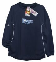 Tampa Bay Rays MLB Authentic Majestic Shirt with Pockets Mens L